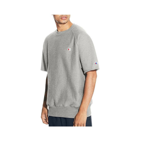 Champion Reverse Weave  Short-Sleeve Crew Oxford Grey T9596