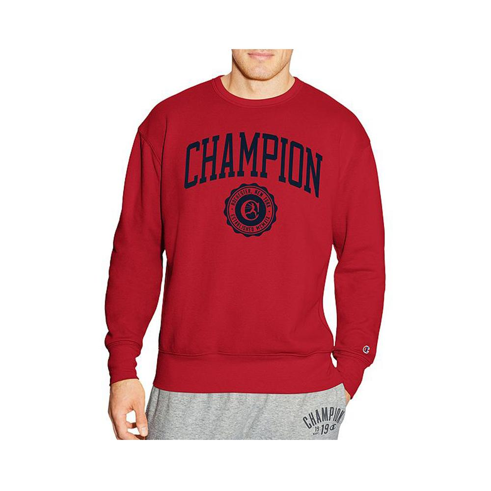 Champion Men's Heritage Fleece Crew Fire Roasted Red S1230