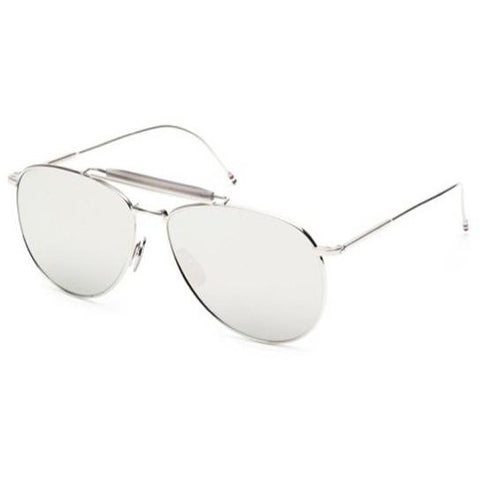 Thom Browne Sunglasses Silver-Grey w/Dark Grey Mirror-AR TB-015-LTD-SLV-62