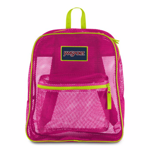 JANSPORT Mesh Pack Backpack Syber/Pink JS0A2SDG01B