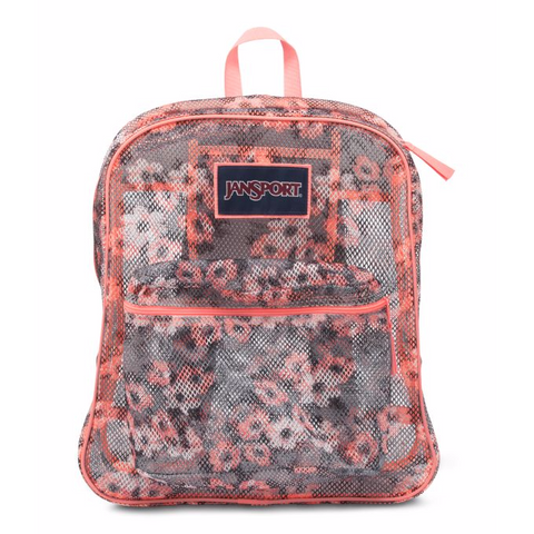 JANSPORT Mesh Pack Backpack Coral/Sparkle/PrettyPose JS0A2SDG0JB