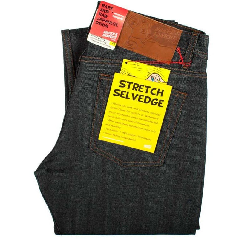 Naked and Famous WeirdGuy Deep Indigo Stretch Selvedge