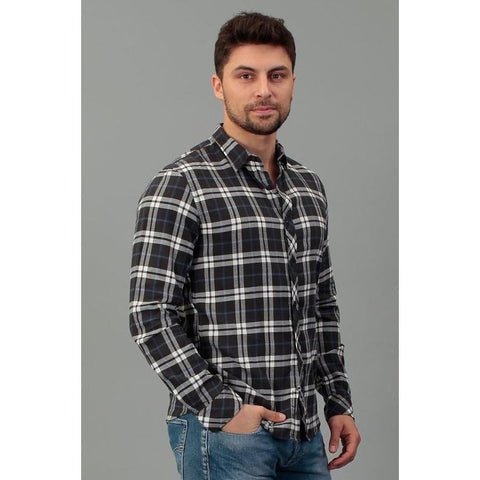 TOM TAILOR T 2999 BLACK shirt checked 203066700