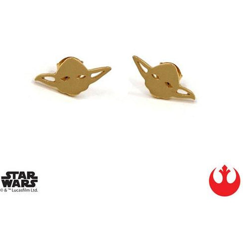 Han Cholo Yoda Stud Earrings Gold