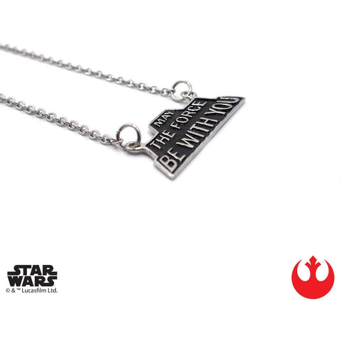 "Han Cholo MAY THE FORCE BE WITH YOU 16"" HCSW17 Silver"