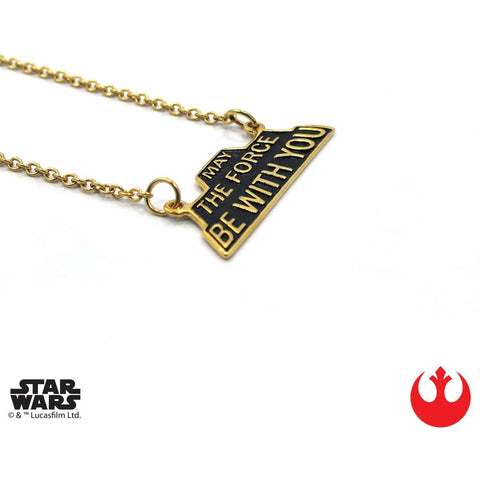 "Han Cholo MAY THE FORCE BE WITH YOU 16"" HCSW17 Gold"