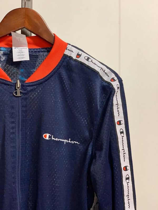 Champion Men's Reversible Mesh Jacket Imperial Indigo/Red Spark/Blur Tropics Imperial V9797-549733