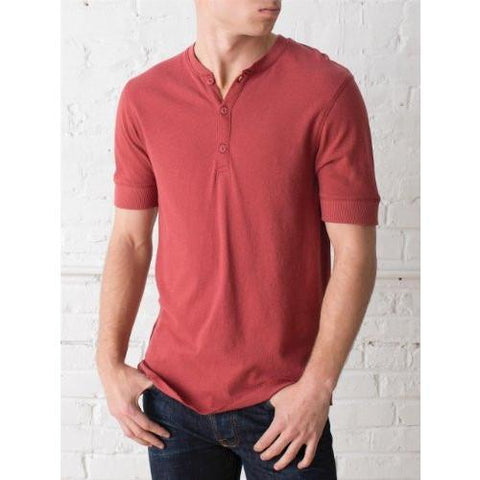 Alternative SHORT-SLEEVE HENLEY Red