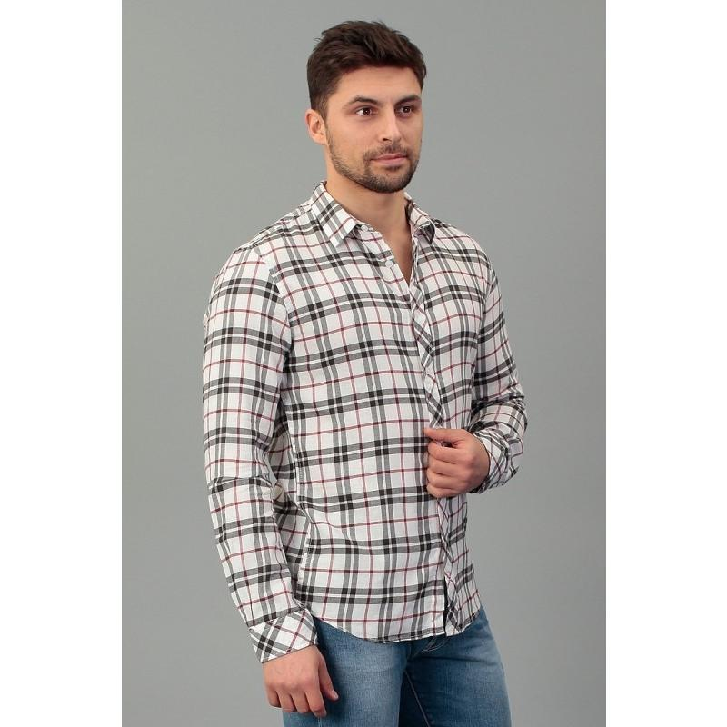 TOM TAILOR T2000 WHITE shirt checked 203066700