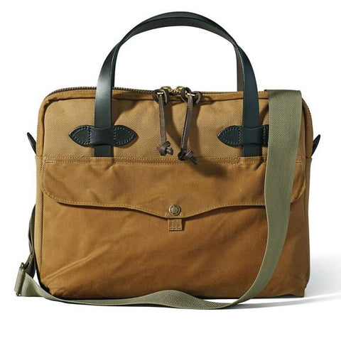 Filson Rugged Twill And Tin Cloth Tablet Briefcase 70324 Tan