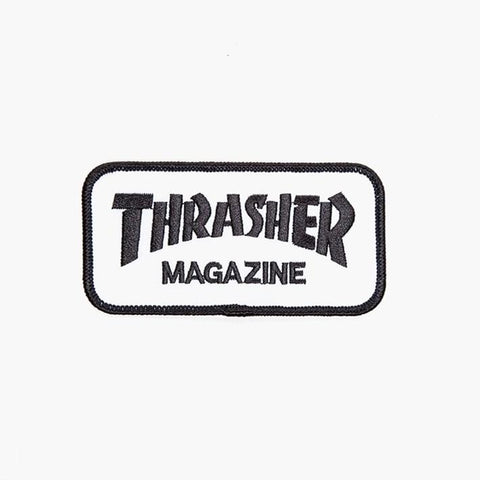 THRASHER Magazine Patch WHITE/BLACK 3130012