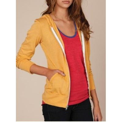 Alternative Apparel Women's Eco-Heather Zip Hoodie #F-01970E1