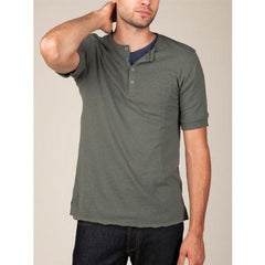 Alternative SHORT-SLEEVE HENLEY Military