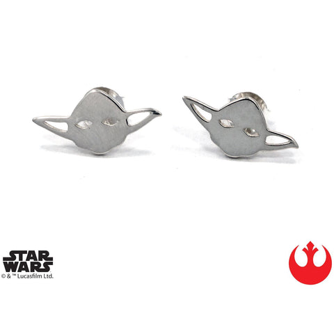 Han Cholo Yoda Stud Earrings Silver