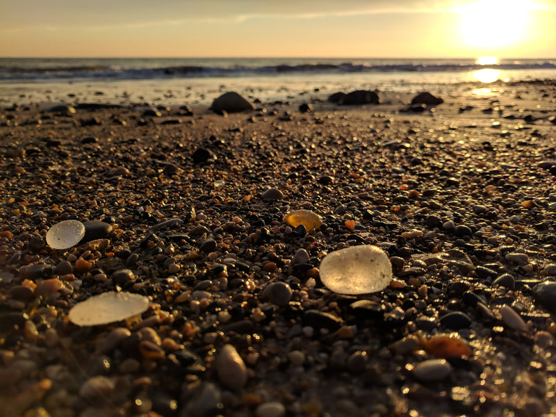 Finding Sea Glass in Seaham, England