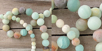 Amazonite beads for seashell necklaces