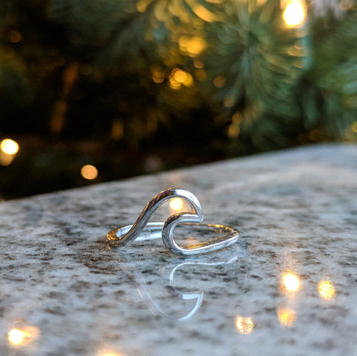 Sterling Silver Wave Rings - Soul Shells