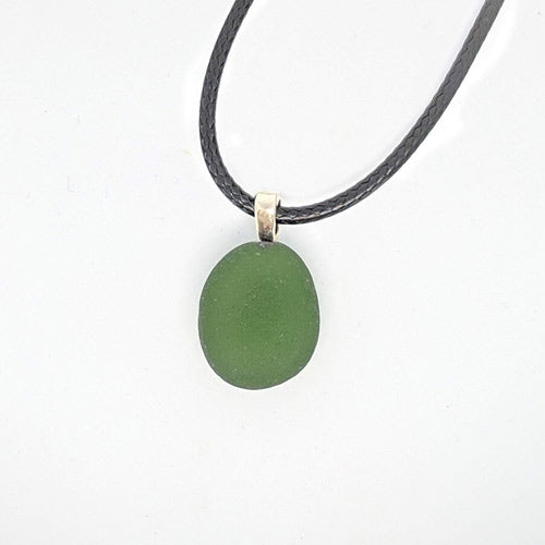 Green Genuine English Sea Glass Pendant - Soul Shells