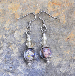 Multi-Colored Glass Bead Earrings - Soul Shells