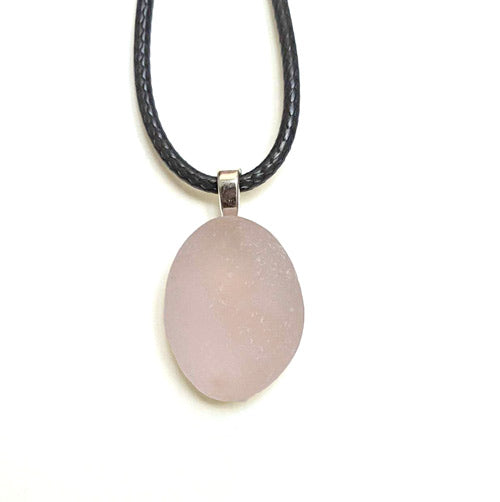 Pink Genuine English Sea Glass Pendant - Soul Shells
