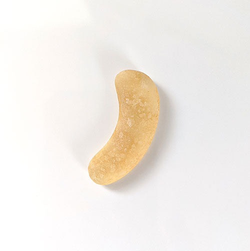 Curved Yellow Sea Glass Piece - Soul Shells