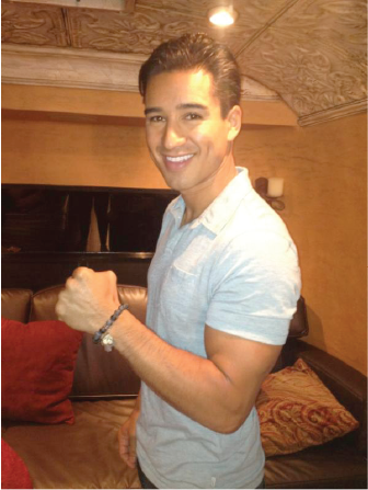 MARIO LOPEZ WEARING HIS CUSTOM JONES KATAMI