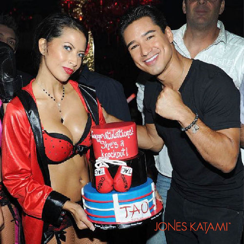 Mario Lopez celebrating his Birthday in Vegas wearing his Jones Katami