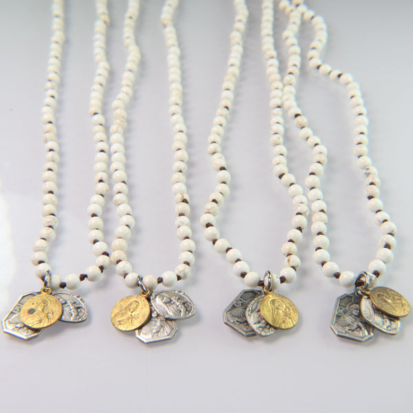 NEW! Vintage Icons on White Howlite