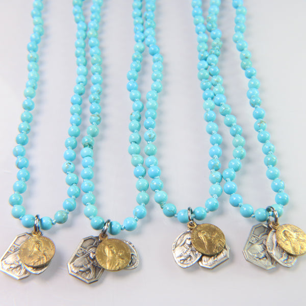 NEW! Vintage Icons on Turquoise Howlite