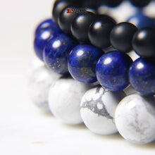 Onyx, Lapis and White Howlite.