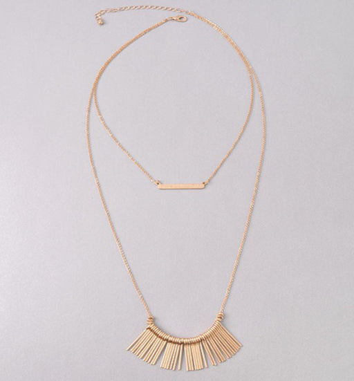 Fun Rose Gold Layered Necklace