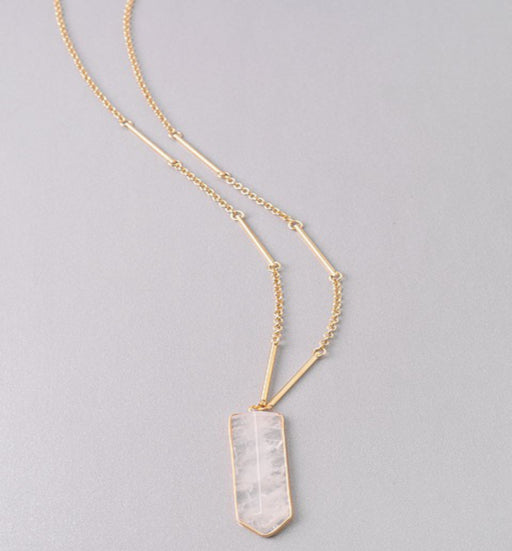 Unique Long Stone Necklace