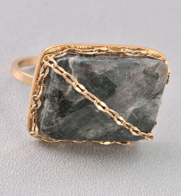 Fabulous Grey Stone Ring