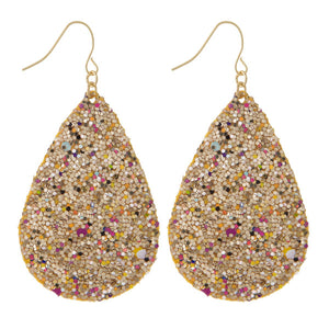 Sparkle Leather Earrings