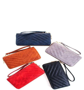 Double Zipper Long Wallet