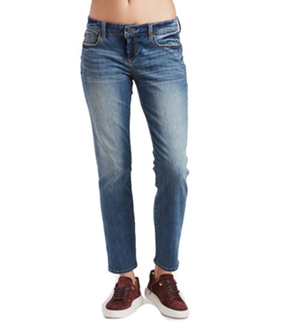 High Rise Straight Ankle in Light Washed Denim