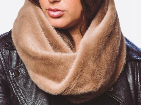 Faux Fur Tube Scarf