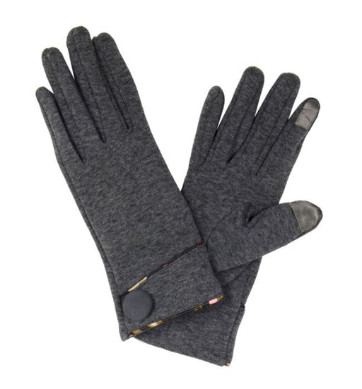 Gloves with Floral Trim and Button Detail