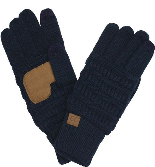 Solid Ribbed Glove with Smart Tips