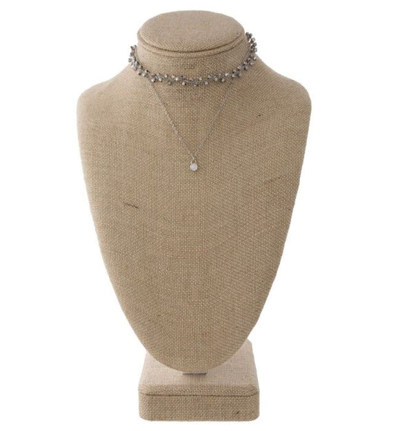 Short Layered Choker Set- Silver