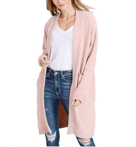 Plush Fuzzy Long Cardigan