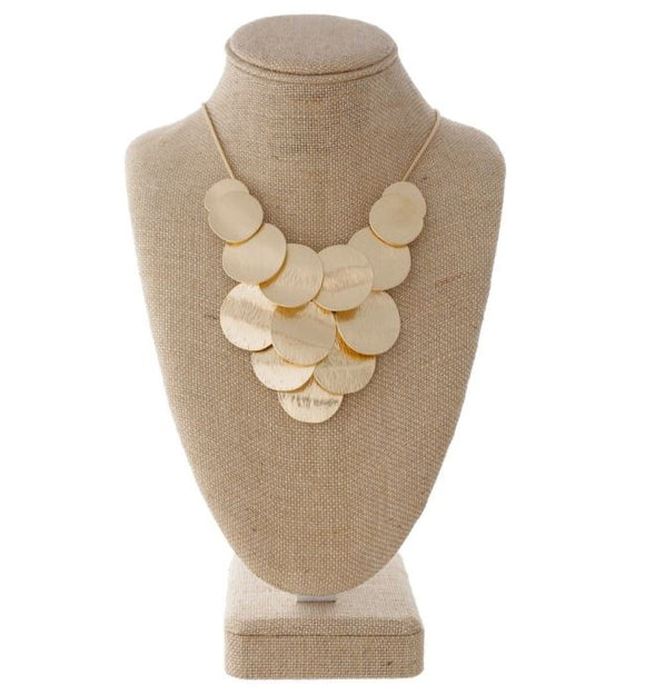 Short Statement Necklace with Circle Shape Details