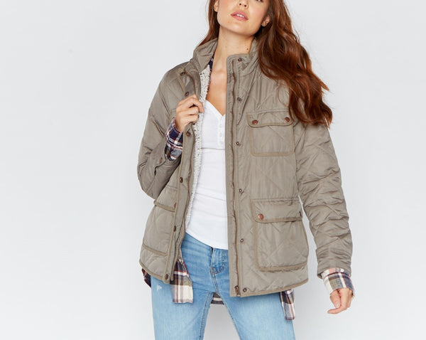 Sherpa Lined Quilted Jacket