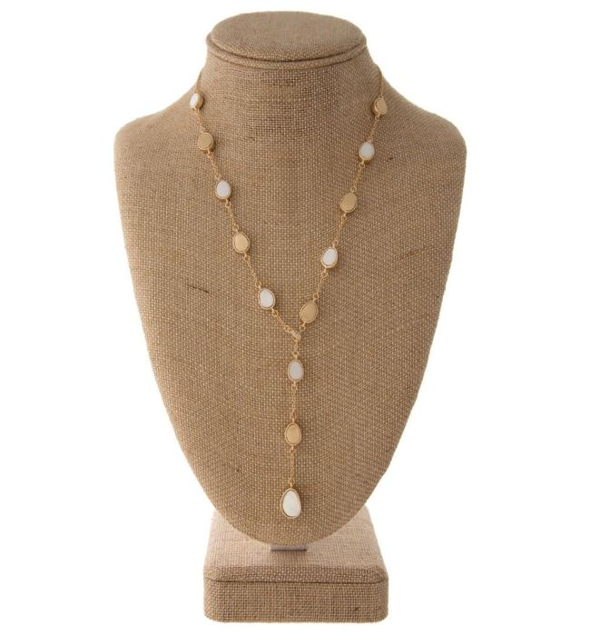 Y Necklace with Shell Beads