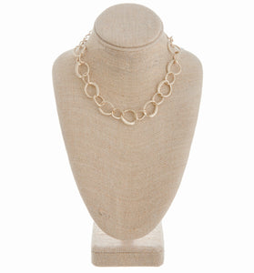 Trendy Gold Chain Link Necklace
