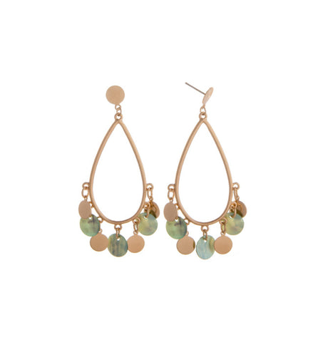 Charm Metal Drop Earrings