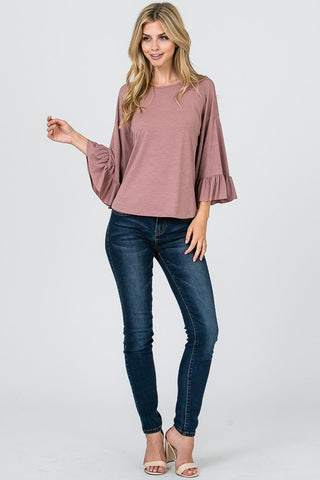 3/4 Bell Sleeve Top
