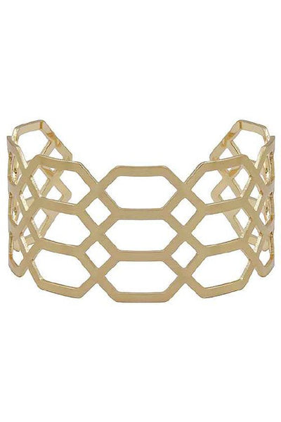 Honeycomb Flexible Cuff Bracelet