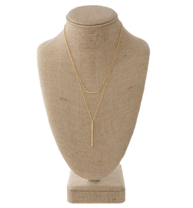Dainty Layered Necklace in Gold