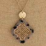 Moroccan Print Pendant Necklace